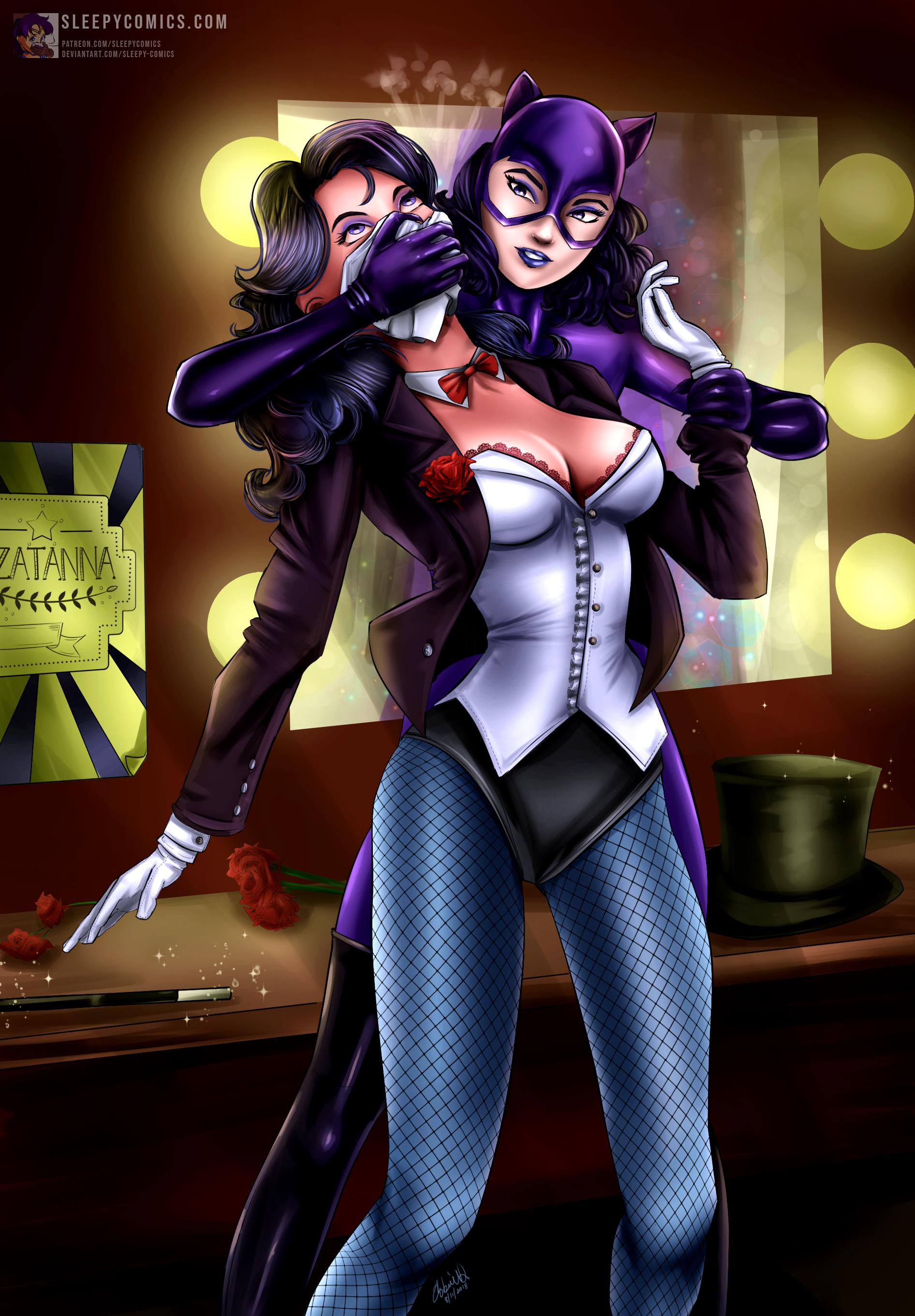 Zatanna Chloroformed by Catwoman