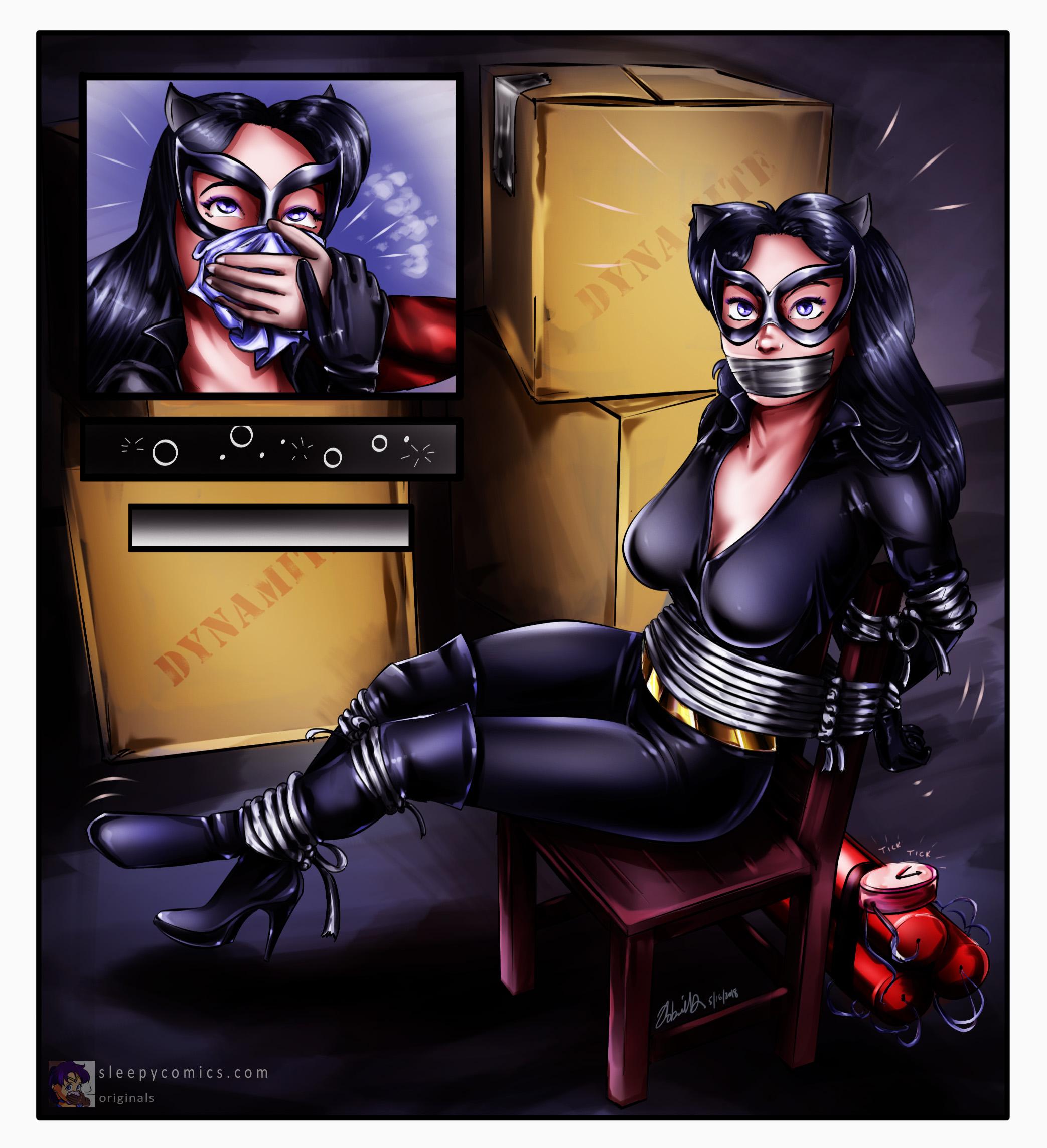 Catwoman Bomb Peril