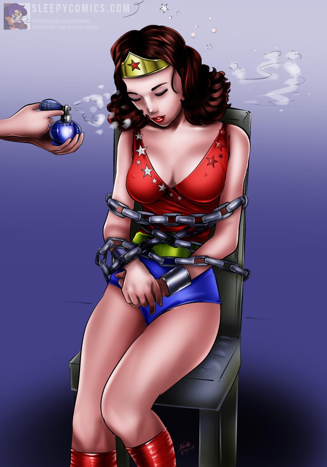 Wonder Girl Gassed