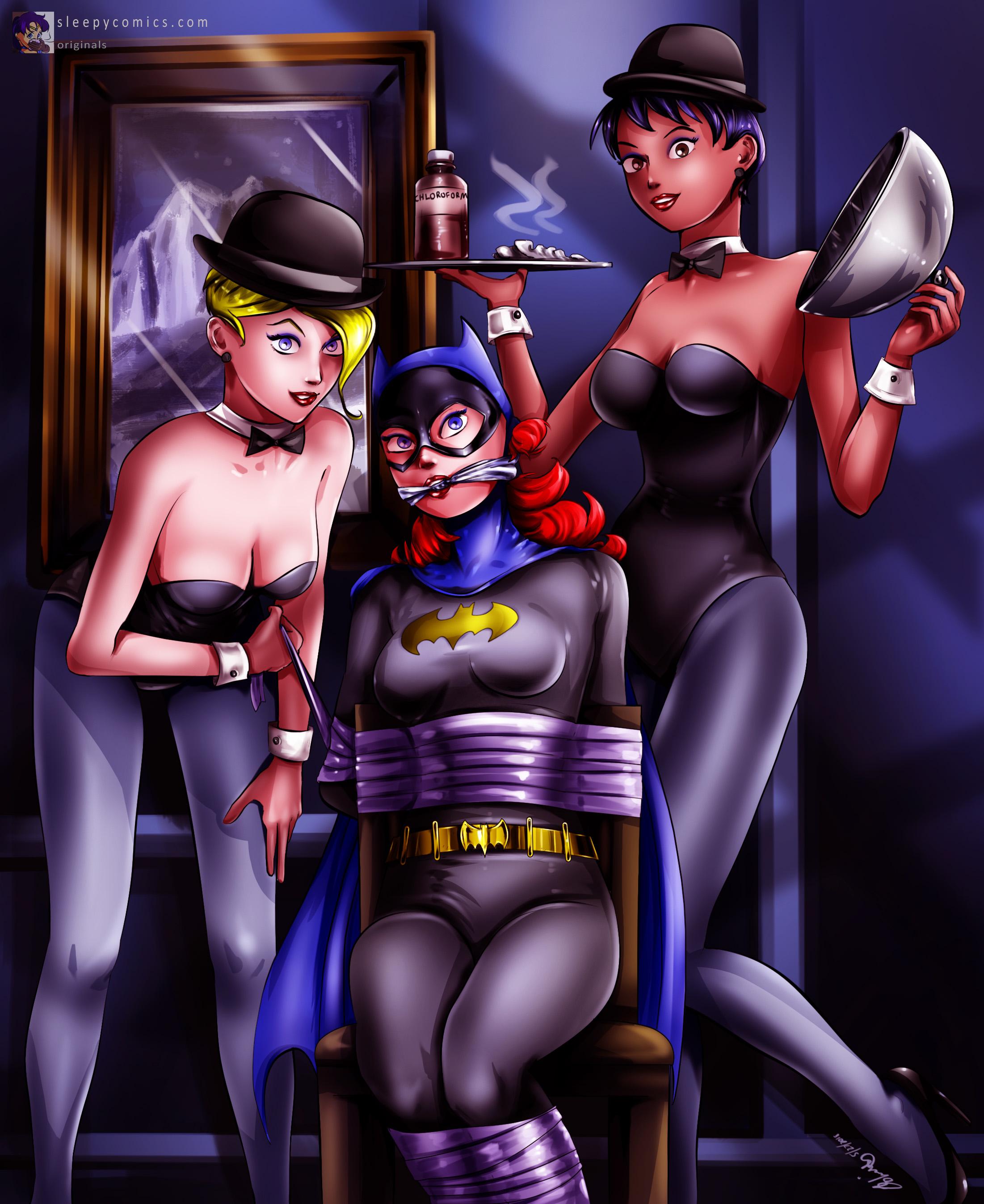 Batgirl Captured by Penguin's Girls