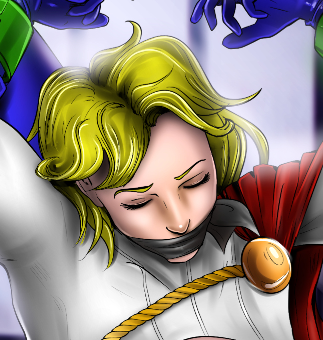 Supergirl and Powergirl Captured
