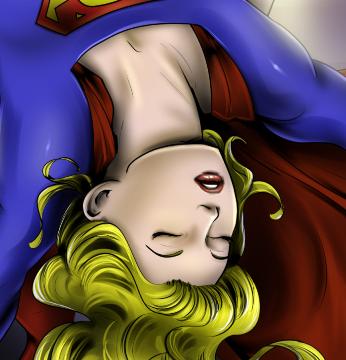 Supergirl Rescued by Wonder Woman